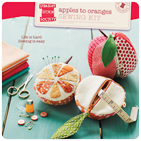 Apples to Oranges Sewing Kit - PDF Pattern - Straight Stitch
