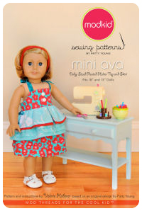 Ava Mini - Dolly-Sized Pleated Halter Top and Skirt - Modkid