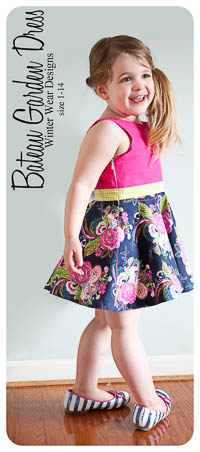 Bateau Garden Dress PDF - Winter Wear Designs - Sizes 1 thru 14