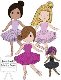 Bella the Dancer - PDF FMA Pattern - StitchART