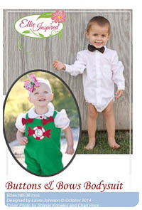 Buttons and Bows Bodysuit PDF - Ellie Inspired - NB thru 36M