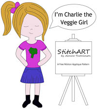 Charlie the Veg Girl - PDF FMA Pattern - StitchART