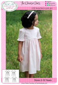 NEW Clarissa Dress PDF Pattern - MCM Designs - Sz 2-10