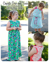 Coquette Dress & Tunic PDF - Winter Wear Designs - Sizes1-14
