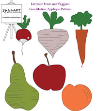 NEW Eat Your Fruit & Veggies - PDF FMA Pattern - StitchART