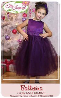 Ballerina Girl & Doll PDF - Ellie Inspired - PLUS Sizes 1-16