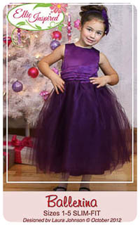 Ballerina Girl & Doll PDF - Ellie Inspired - SLIM Sizes 1-16