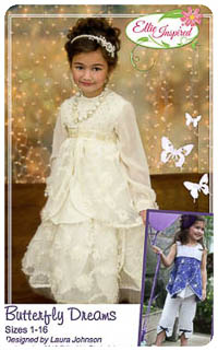 Butterfly Dreams & Doll PDF - Ellie Inspired - Sizes 1 thru 16