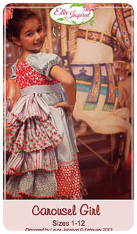 Carousel Girl & Doll PDF - Ellie Inspired - Sizes 1 thru 12