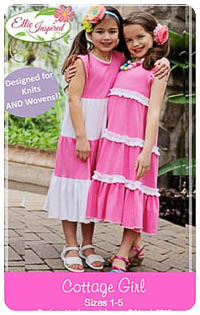 Cottage Girl & Doll PDF - Ellie Inspired - Sizes 1 thru 16