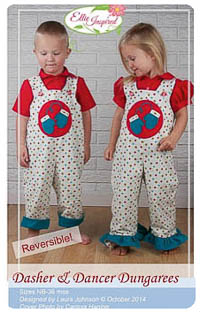 Dasher and Dancer Dungarees PDF - Ellie Inspired - NB thru 36M