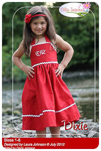 Dixie & Doll PDF - Ellie Inspired - Sizes 1 thru 8