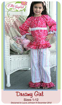 Dreamy Girl & Doll PDF - Ellie Inspired - Sizes 1 thru 12
