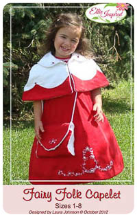 Fairy Folk Capelet PDF - Ellie Inspired - Sizes 1 thru 5