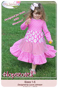Hopscotch Girl & Doll PDF - Ellie Inspired - Sizes 1 thru 16