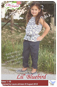 Lil' Bluebird PDF - Ellie Inspired - Sizes 1 thru 16