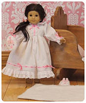 "Mini All-Tucked-In Gown PDF - Ellie Inspired - Sz 15"" & 18"" Doll"
