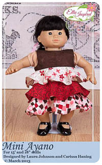 "Mini Ayano PDF - Ellie Inspired - Sizes for 15"" & 18"" Doll"