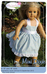 "Mini Dixie PDF - Ellie Inspired - Sizes for 15"" and 18"" Dolls"