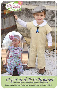 Piper and Pete Romper PDF - Ellie Inspired - NB thru 36M