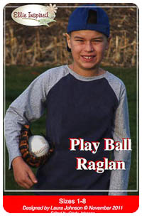 Play Ball Raglan PDF - Ellie Inspired - Sizes 1 thru 16