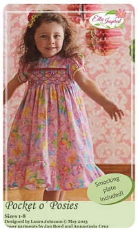 Pocket o' Posies PDF - Ellie Inspired - Sizes 1 thru 8