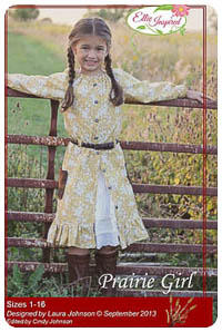 Prairie Girl & Doll PDF - Ellie Inspired - Sizes 1 thru 16