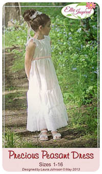 Precious Peasant Dress PDF - Ellie Inspired - Sizes 1 thru 16