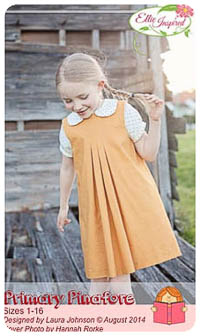 Primary Pinafore & Blouse PDF - Ellie Inspired - Sizes 1 thru 16