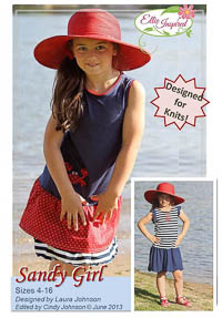 Sandy Girl & Doll PDF - Ellie Inspired - Sizes 4 thru 16