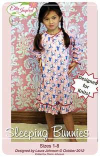 Sleeping Bunnies & Doll PDF - Ellie Inspired - Sizes 1 thru 8