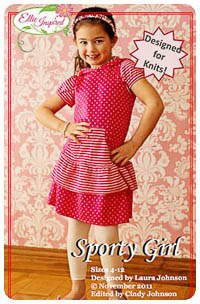 Sporty Girl & Doll PDF - Ellie Inspired - Sizes 4 thru 12