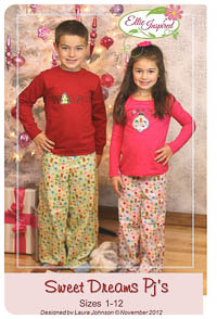 Sweet Dreams Pj Pants PDF - Ellie Inspired - Sizes 1 thru 12