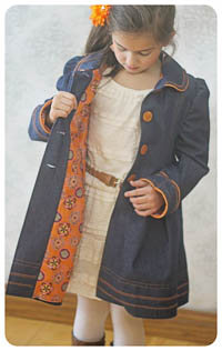 Sweet Pea Coat & Doll PDF - Ellie Inspired - Sizes 1 thru 16