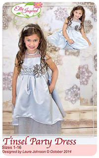 Tinsel Party Dress PDF - Ellie Inspired - Sizes 1 thru 16