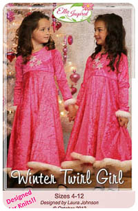 Winter Twirl Girl & Doll PDF - Ellie Inspired - Sizes 4 thru 12