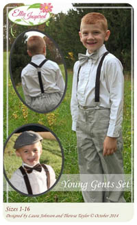 Young Gents Set PDF - Ellie Inspired - Sizes 1 thru 16