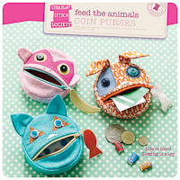 Feed the Animals Coin Purses - PDF Pattern - Straight Stitch