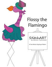 Flossy the Flamingo - PDF FMA Pattern - StitchART