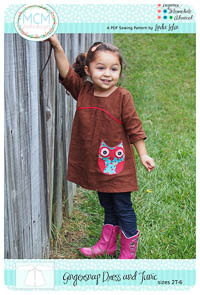 Gingersnap Dress and Tunic PDF Pattern - MCM Designs - Sizes 2-6