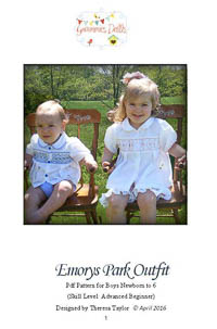 NEW Emorys Park Outfit PDF - Grammies Dolls - Sizes NB–6