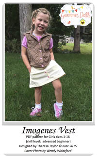 Imogenes Vest and Skirt PDF - Grammies Dolls - Sizes 1-16
