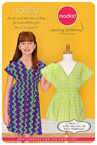 Hailey - Shirred Shirt, Tunic, Dress - Modkid (Tween size 10-16)