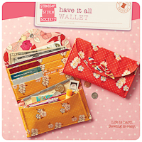 Have It All Wallet - PDF Pattern - Straight Stitch