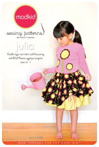 Julia - Double-Layer Twirl Skirt & Applique - Modkid (size 2T-7)