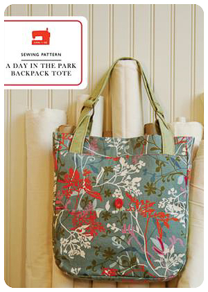 A Day In The Park Backpack Tote - PDF Pattern - Liesl+Co