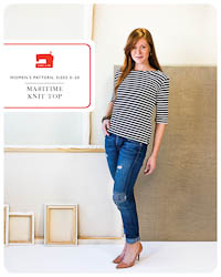 NEW - Maritime Knit Top - PDF Pattern - Liesl+Co