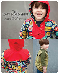 NEW Long Board Shirt PDF - Winter Wear Designs - Sizes 1 thru 14