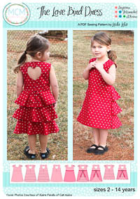 The Love Bird Dress PDF Pattern - MCM Designs - Sizes 2-14