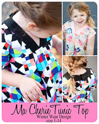 Ma Cherie Tunic Top PDF - Winter Wear Designs - Sizes 1 thru 14